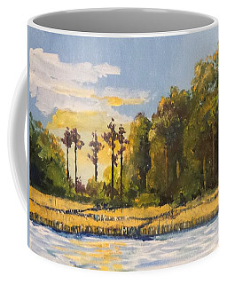 Coffee Mug featuring the painting Sunrise Over Queens Creek by Jim Phillips