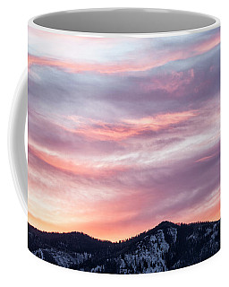 Sunrise Over Snowy Peak Coffee Mug