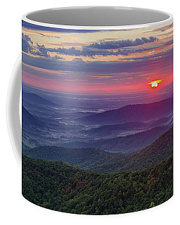 Coffee Mug featuring the photograph Sunrise Over The Blue Ridge by Lori Coleman