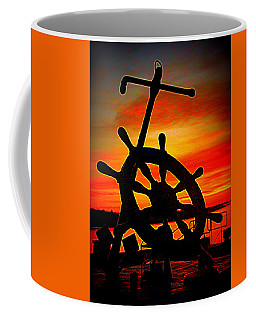 Sunrise Over The Captain's Wheel 2 Coffee Mug