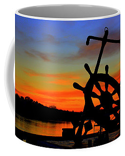 Sunrise Over The Captain's Wheel Coffee Mug