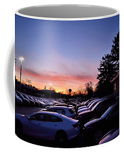 Sunrise Over The Car Lot Coffee Mug