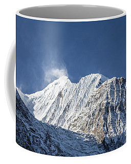 Sunrise Over The Gangapurna Peak At 7545m In The Himalayas In Ne Coffee Mug