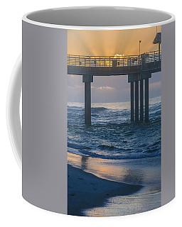 Sunrise Over The Pier Coffee Mug