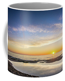 Sunrise Over The Rockpool. Coffee Mug