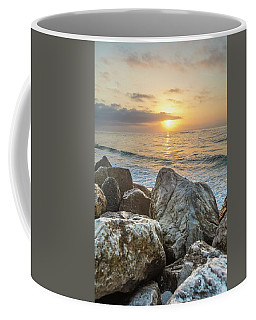 Sunrise Over The Rocks  Coffee Mug