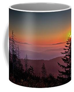 Coffee Mug featuring the photograph Sunrise Over The Smoky's IIi by Douglas Stucky