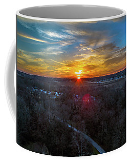 Sunrise Over The Woods Coffee Mug