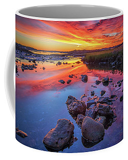 Sunrise Reflections In Harpswell Coffee Mug