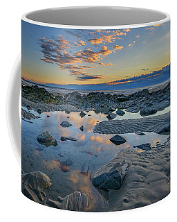 Coffee Mug featuring the photograph Sunrise Reflections On Wells Beach by Rick Berk