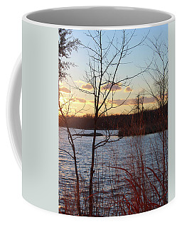 Coffee Mug featuring the photograph Sunset On The River by Melinda Blackman