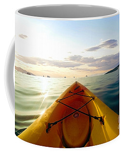 Sunrise Seascape Kayak Adventure Coffee Mug