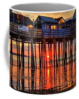 Sunrise Seascape - Old Orchard Beach Pier - Maine Coffee Mug