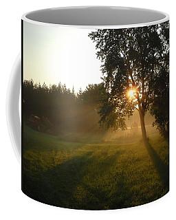 Sunrise Shadows Through Fog Coffee Mug by Kent Lorentzen