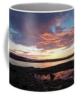 Sunrise, Southwest Harbor, Seawall, Acadia #40169 Coffee Mug