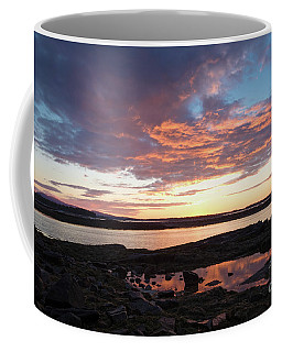 Sunrise, Southwest Harbor, Seawall, Acadia #40169 Coffee Mug