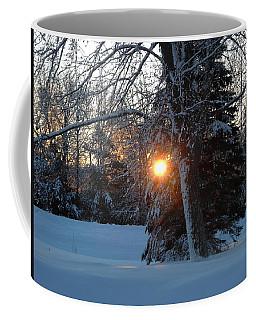 Sunrise Through Branches Coffee Mug by Kent Lorentzen
