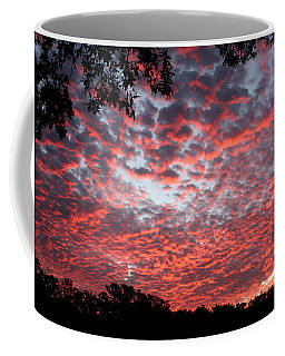 Sunrise Through The Trees Coffee Mug