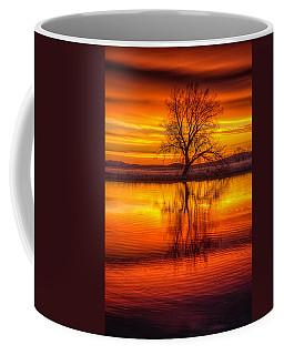 Sunrise Tree Coffee Mug by Fiskr Larsen