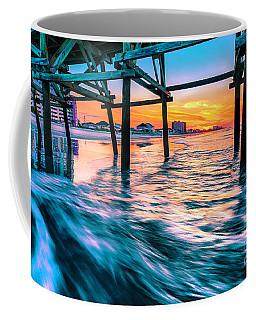 Sunrise Under Cherry Grove Pier Coffee Mug