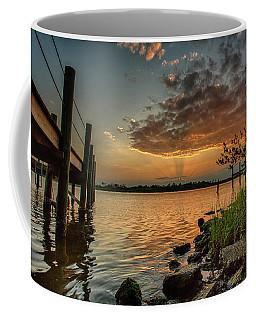 Sunrise Under The Dock Coffee Mug
