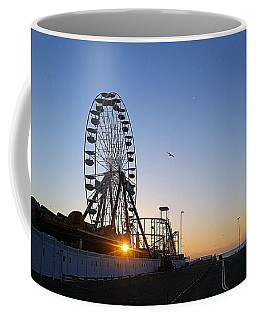 Coffee Mug featuring the photograph Sunrise Under The Ferris Wheel by Robert Banach