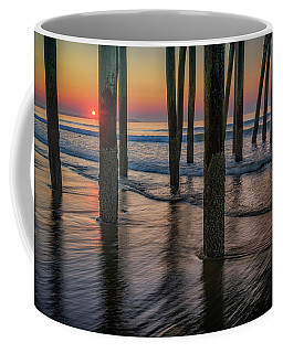 Coffee Mug featuring the photograph Sunrise Under The Pier by Rick Berk