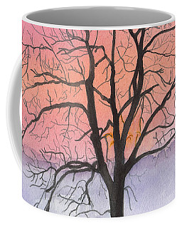 Sunrise Walnut Tree 2 Watercolor Painting Coffee Mug