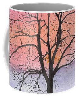 Sunrise Walnut Tree 2 Watercolor Painting Coffee Mug