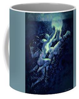 Coffee Mug featuring the digital art Sunrise Water Nymphs by Pennie McCracken