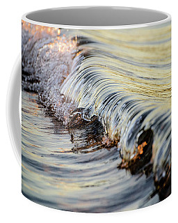 Coffee Mug featuring the photograph Sunrise Wave by Brad Wenskoski