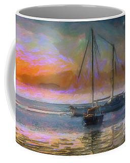 Sunrise With Boats Coffee Mug