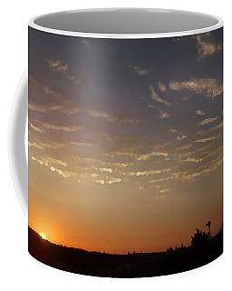 Sunrise With Windmill Coffee Mug