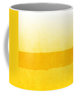 Sunrise- Yellow Abstract Art By Linda Woods Coffee Mug
