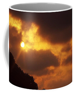Coffee Mug featuring the photograph Sunser Over Trees by Leanne Seymour