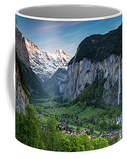 Sunset Above The Lauterbrunnen Valley Coffee Mug