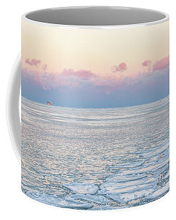 Sunset Across The Frozen Lake Coffee Mug