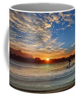 Sunset And A Surfer At Bundoran Coffee Mug