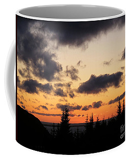 Coffee Mug featuring the photograph Sunset And Dark Clouds by Barbara Griffin