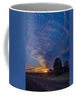 Sunset And Dilapidated Barn Coffee Mug