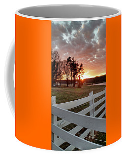 Sunset And Fence North Carolina Coffee Mug by Jim Moore