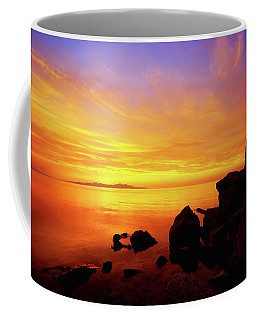 Sunset And Fire Coffee Mug