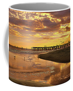 Sunset And Gulls Coffee Mug