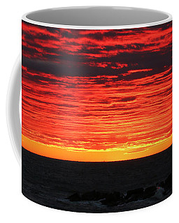 Coffee Mug featuring the photograph Sunset And Jetty by William Selander