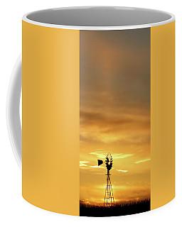 Sunset And Windmill 14 Coffee Mug