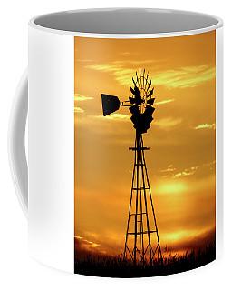 Sunset And Windmill 15 Coffee Mug
