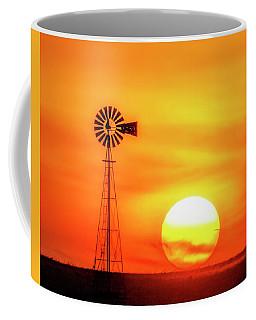 Sunset And Windmill 16 Coffee Mug by Rob Graham