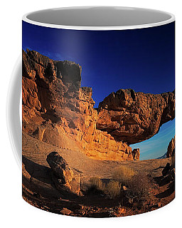 Coffee Mug featuring the photograph Sunset Arch Pano by Edgars Erglis