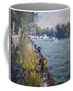 Sunset At An Abandoned Dock Coffee Mug