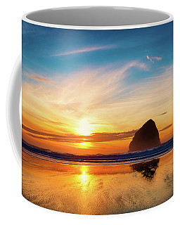 Sunset At Cape Kiwanda Coffee Mug